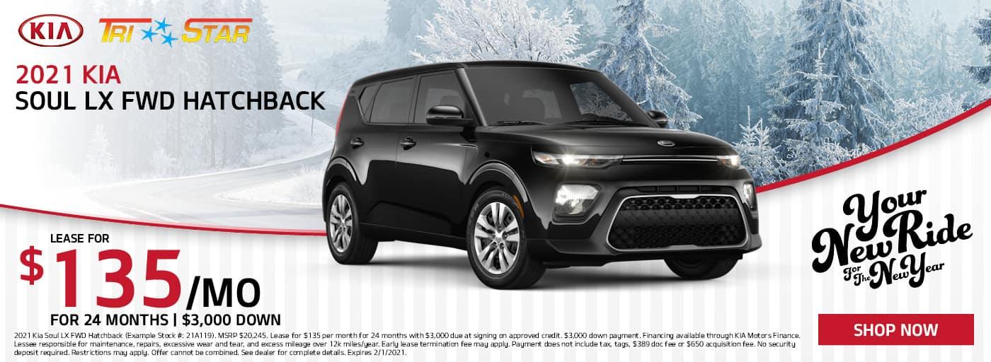 2021 Kia Soul Lease for $135/mo