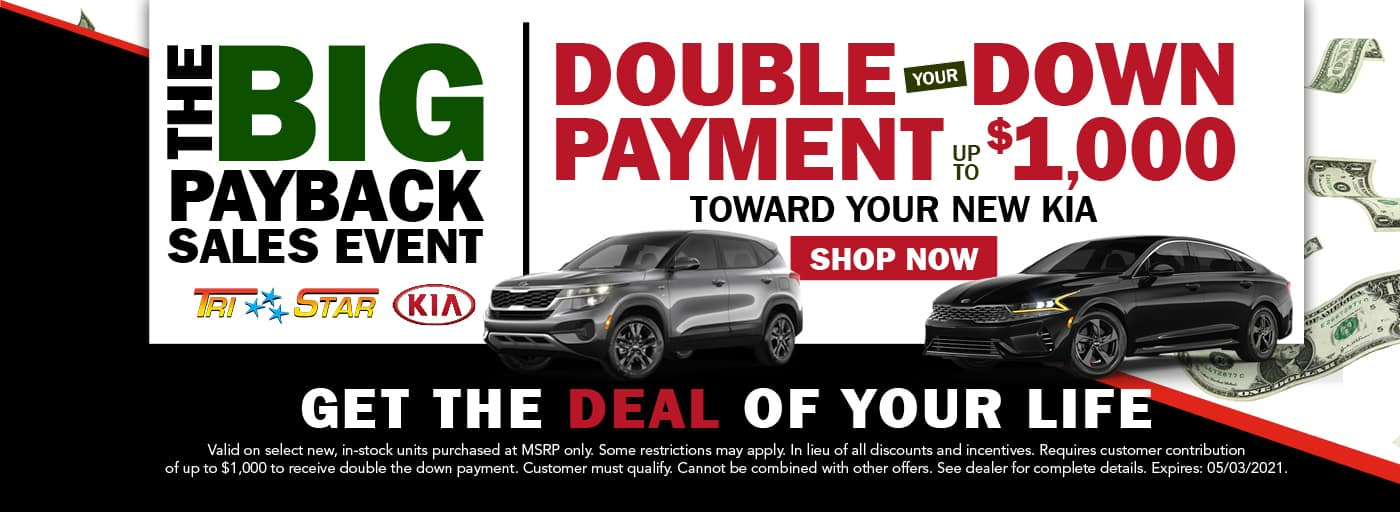 Big Pay Back Event Double Down Your Payment