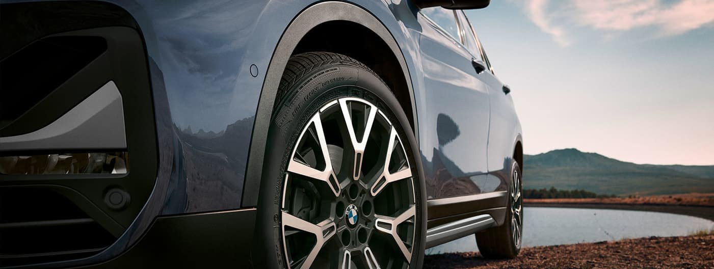 BMW X1 tire close up