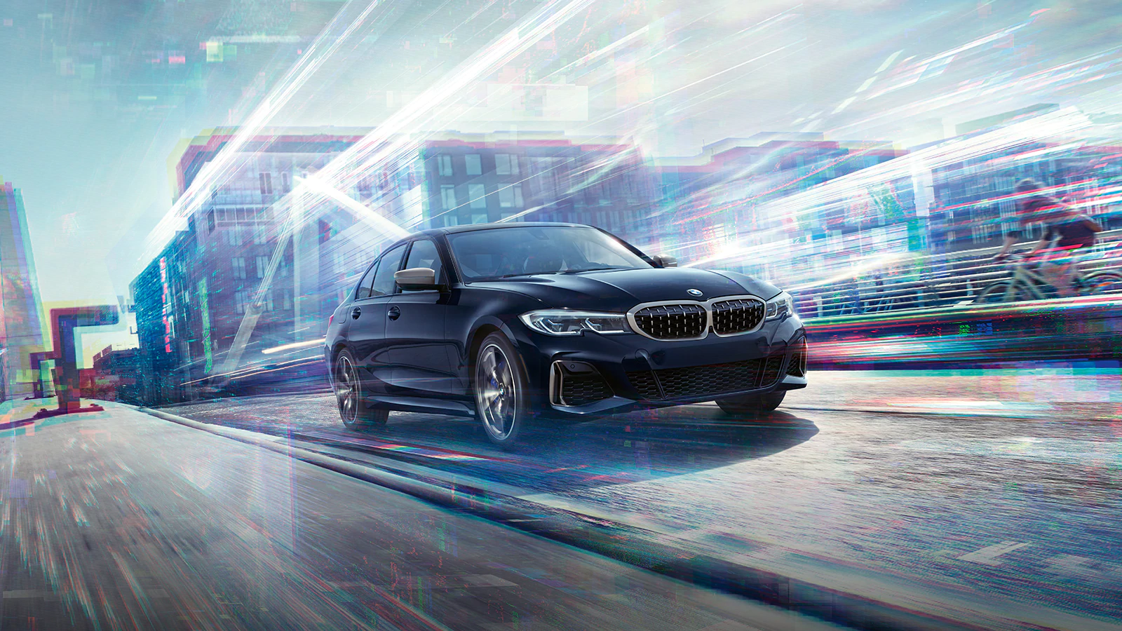 2020 BMW Series 3 sedan driving