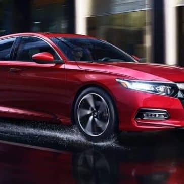 2019 Honda Accord In Rain