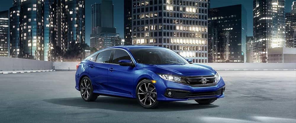 2019 Honda Civic At night