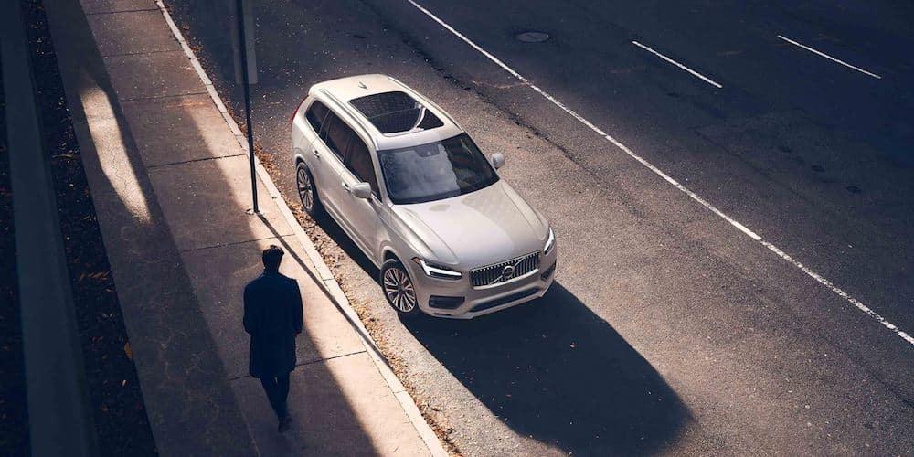 White 2020 Volvo XC90 Parked on Street