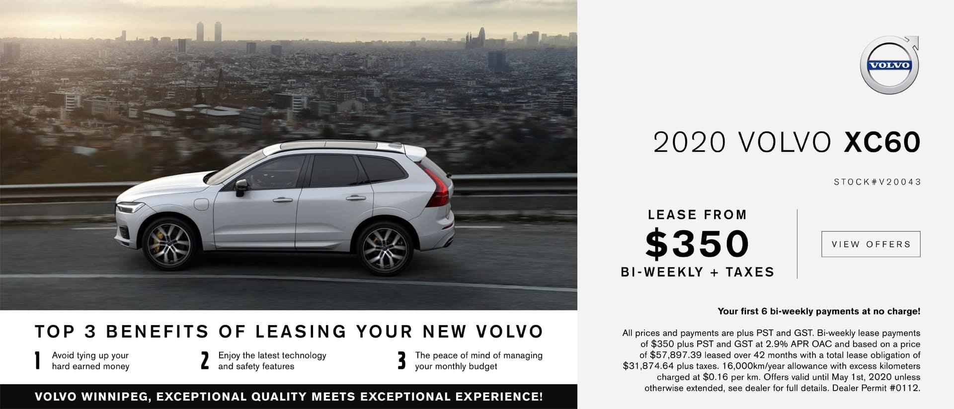 Volvo Winnipeg April XC60 Lease Offer