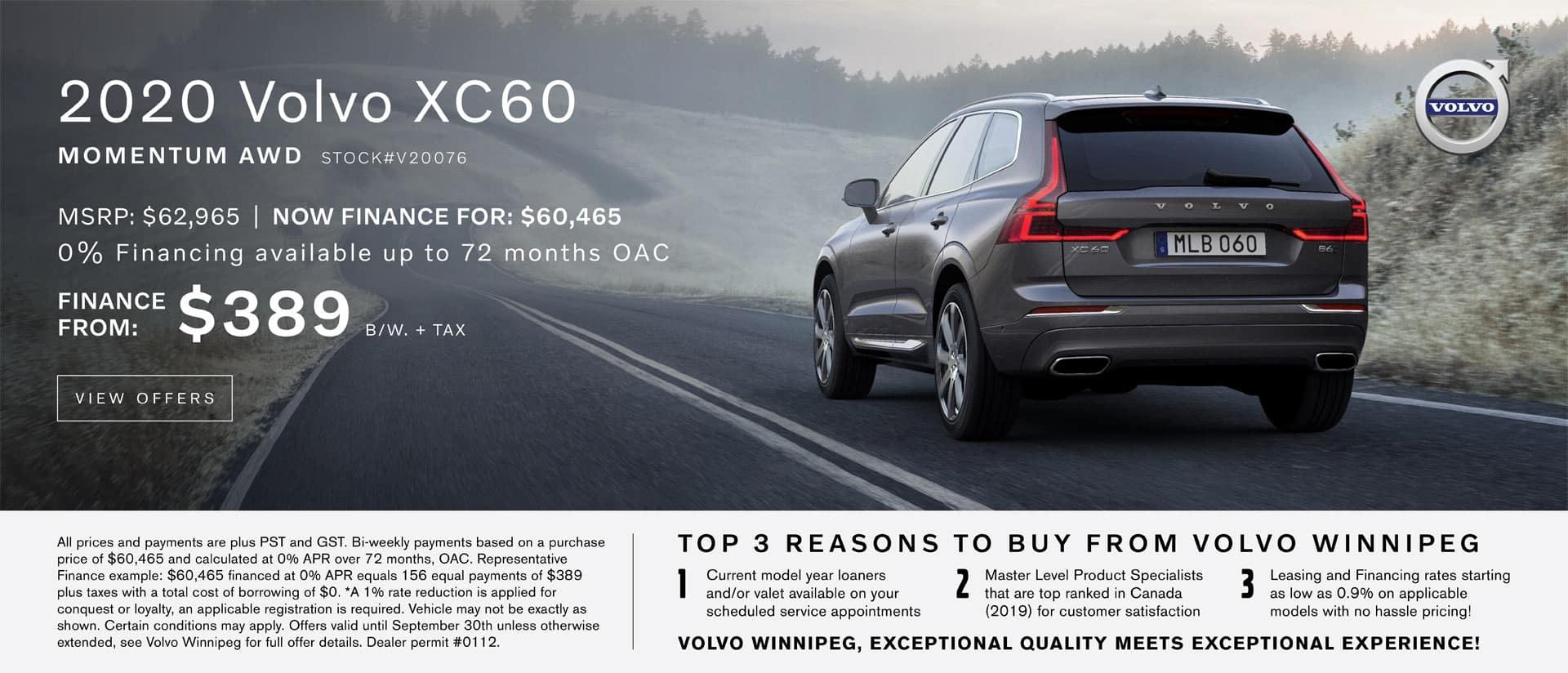 Volvo Winnipeg XC60