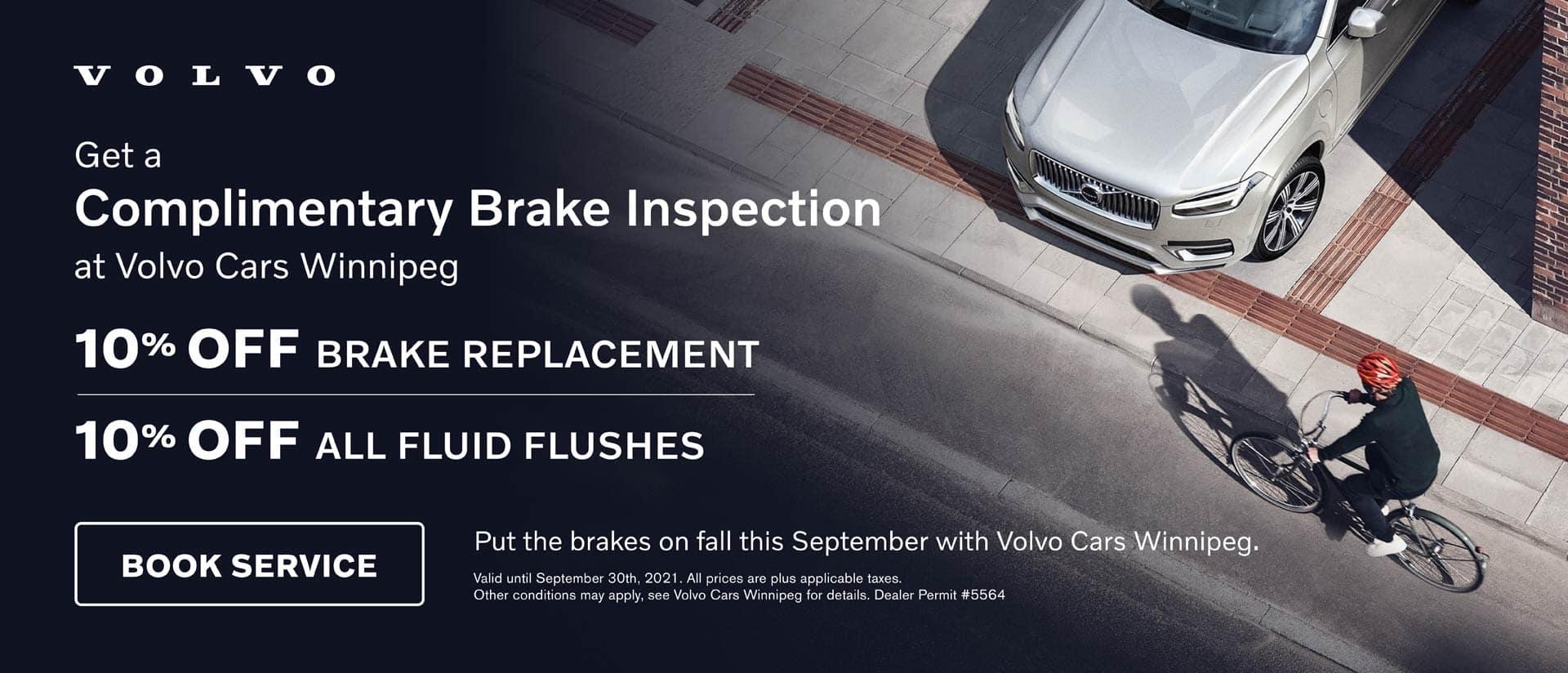 Volvo September Brake Service Offer