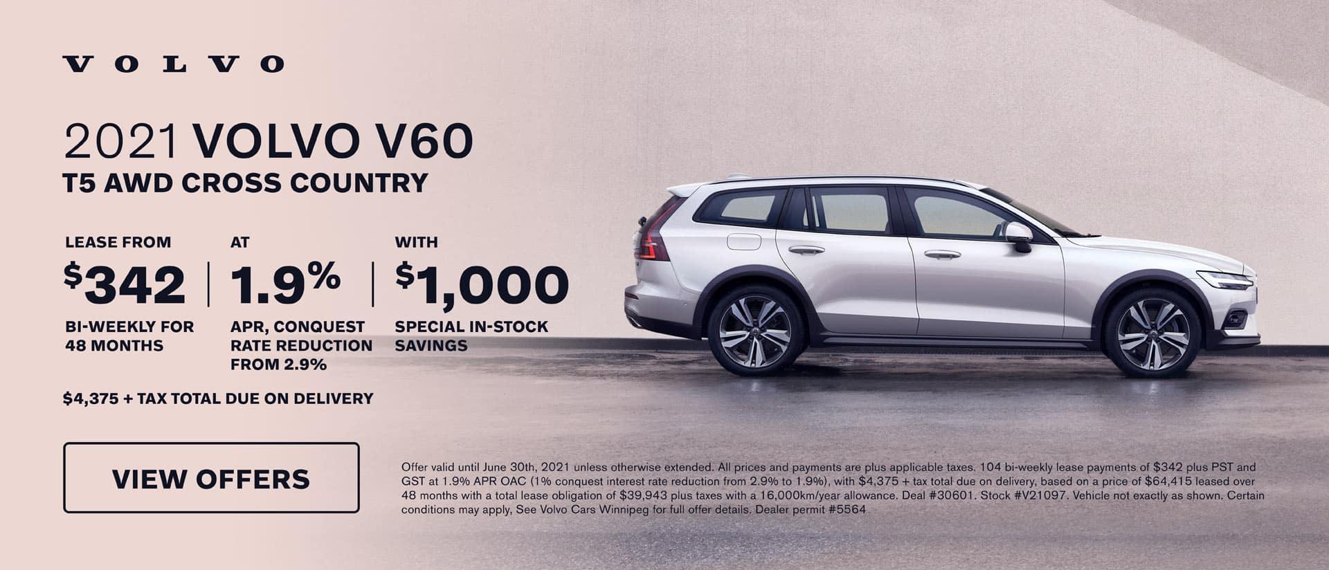 Volvo Cars Winnipeg V60 June Offer