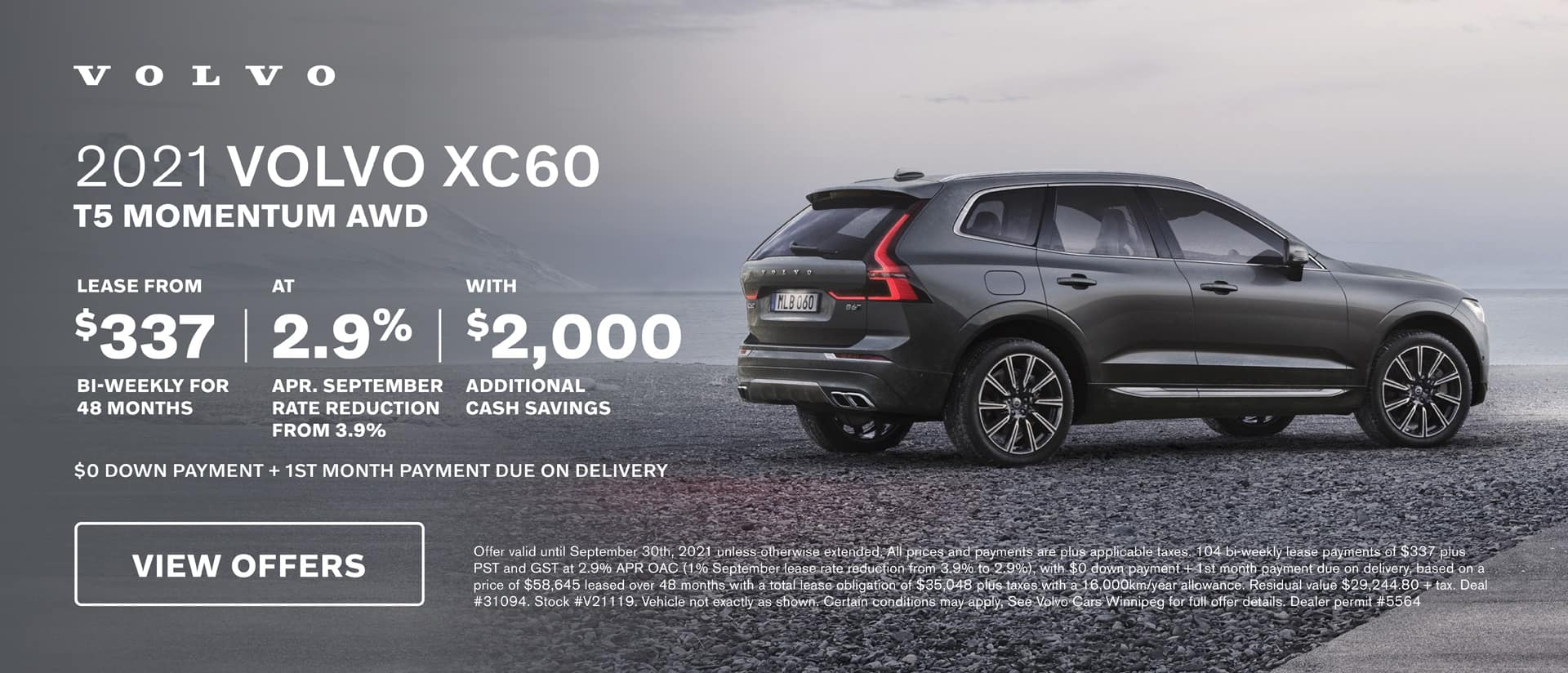 Volvo Cars Winnipeg September XC60 Offer