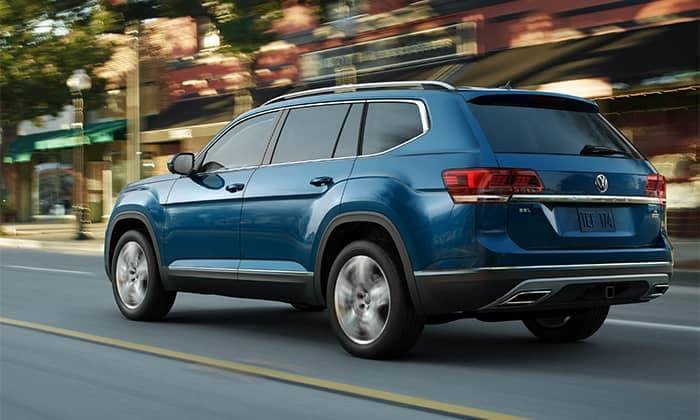 2019 Volkswagen Atlas Driving Through a Town