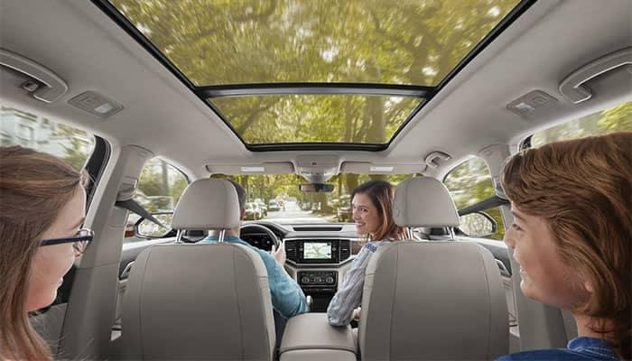 Family Driving in Volkswagen Atlas