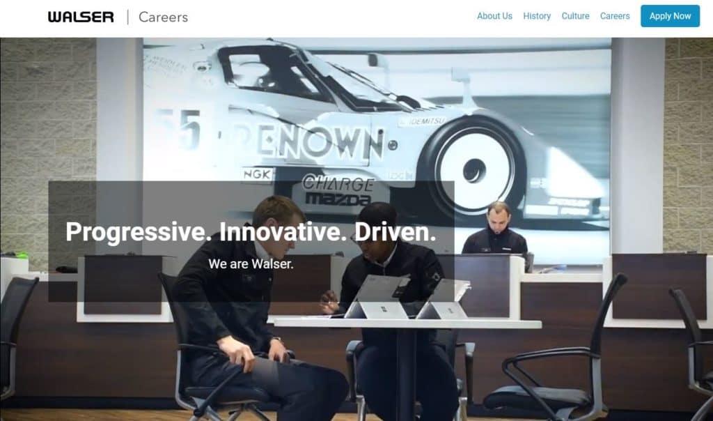 Walser Careers Website image
