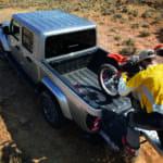 2020 Jeep Gladiator Pickup loading dirtbike
