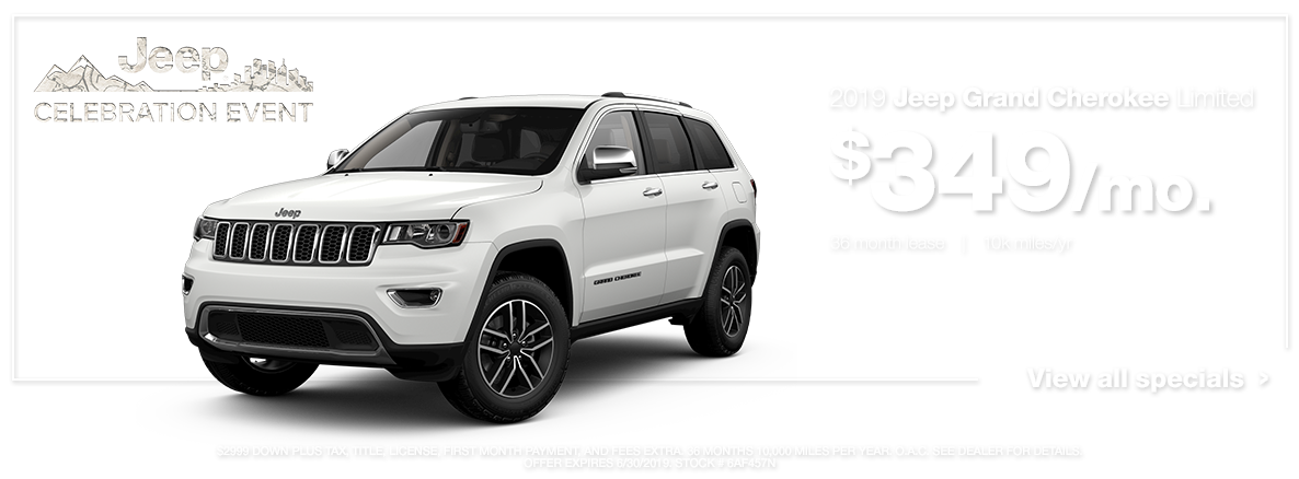 White 2019 Grand Cherokee Limited
