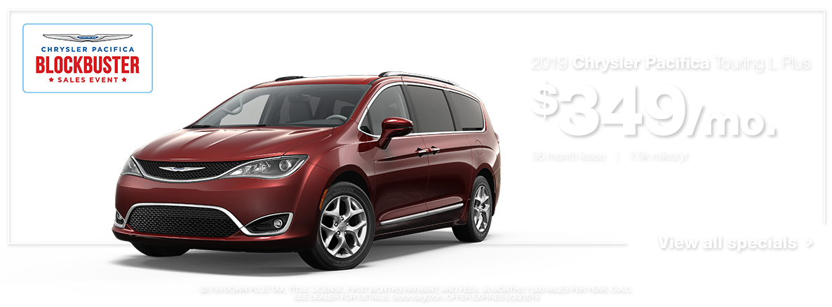 2019 Chrysler Pacifica Touring Red
