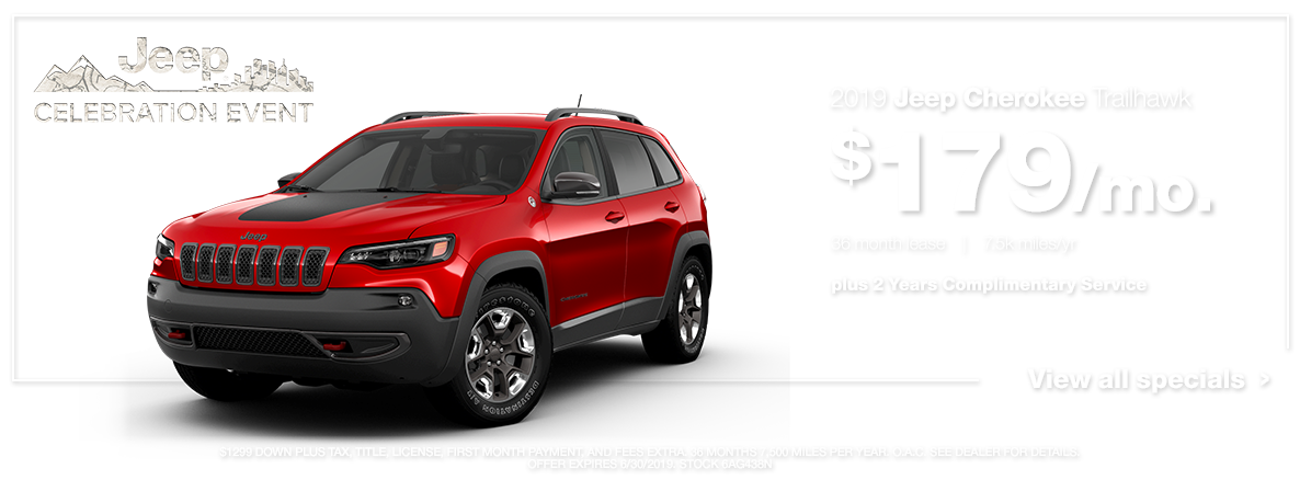2019 Cherokee Trailhawk Red