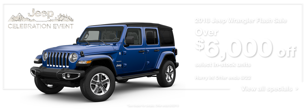 2018 Wrangler Flash Sale