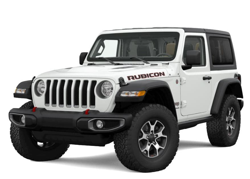 White Wrangler Rubicon