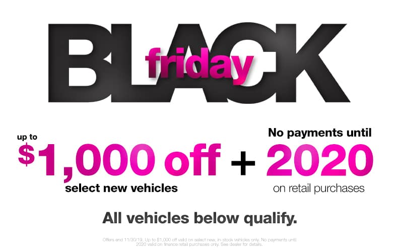 $100 Off Black Friday Vehicles