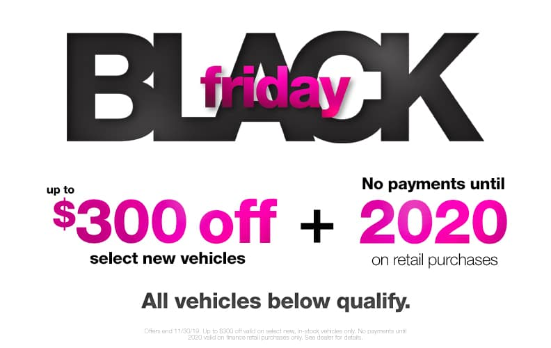 $300 Off Black Friday Vehicles