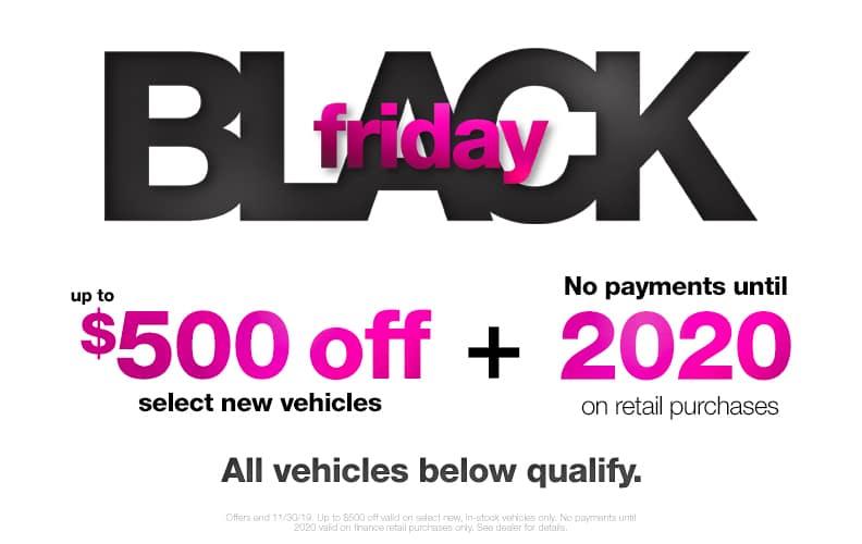 $500 Off Black Friday Vehicles