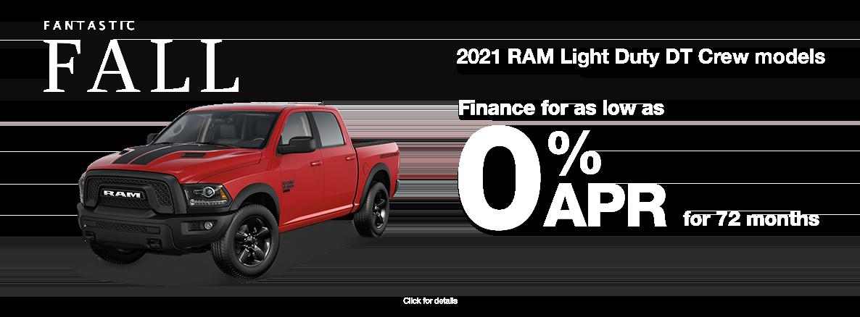 0% for 72 months on RAM DT Models