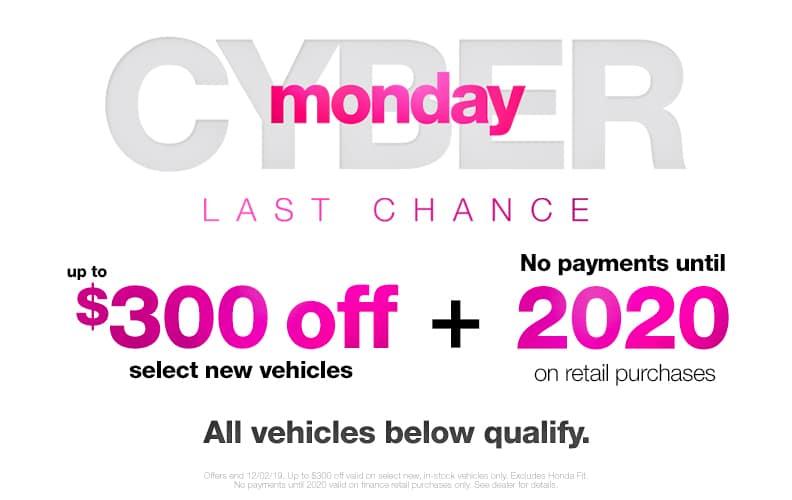 Cyber Monday Honda Deals