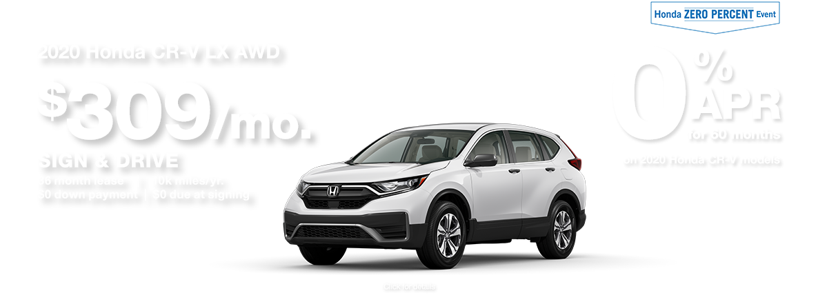 2020 Honda CR-V SUV Sign and Drive Lease Special
