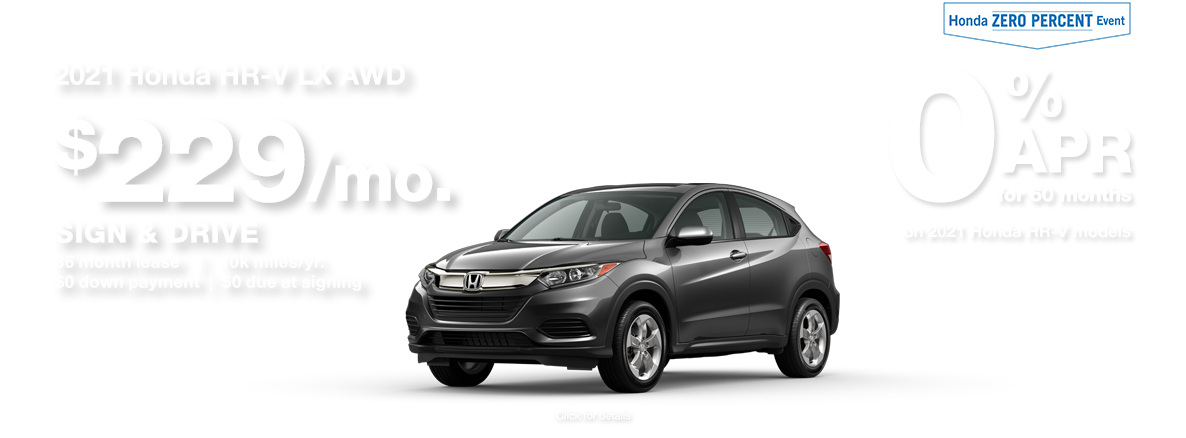 2021 Honda HR-V SUV Sign and Drive Lease Special