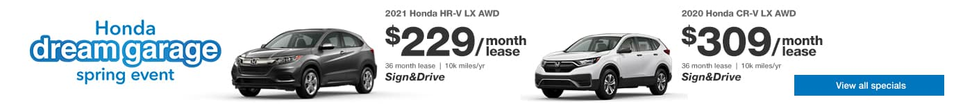 Honda CR-V and HR-V Sign and Drive