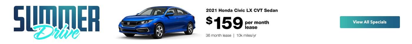 Honda Civic Lease Special