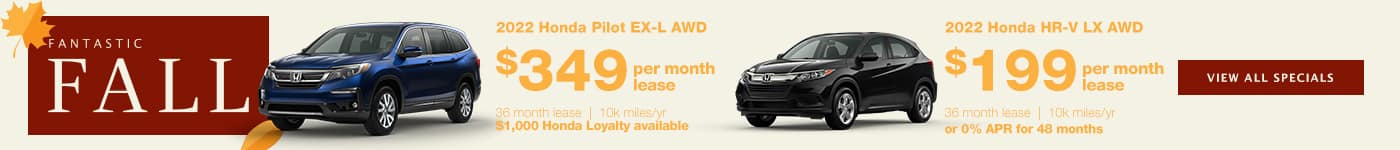 Pilot and HR-V Lease Special