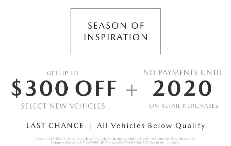 2019 Cyber Monday Mazda Deals