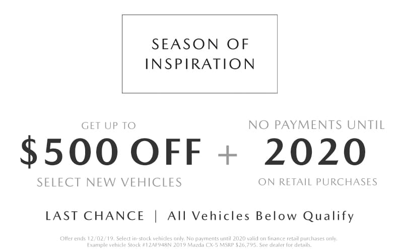2019 Cyber Monday Mazda Deals