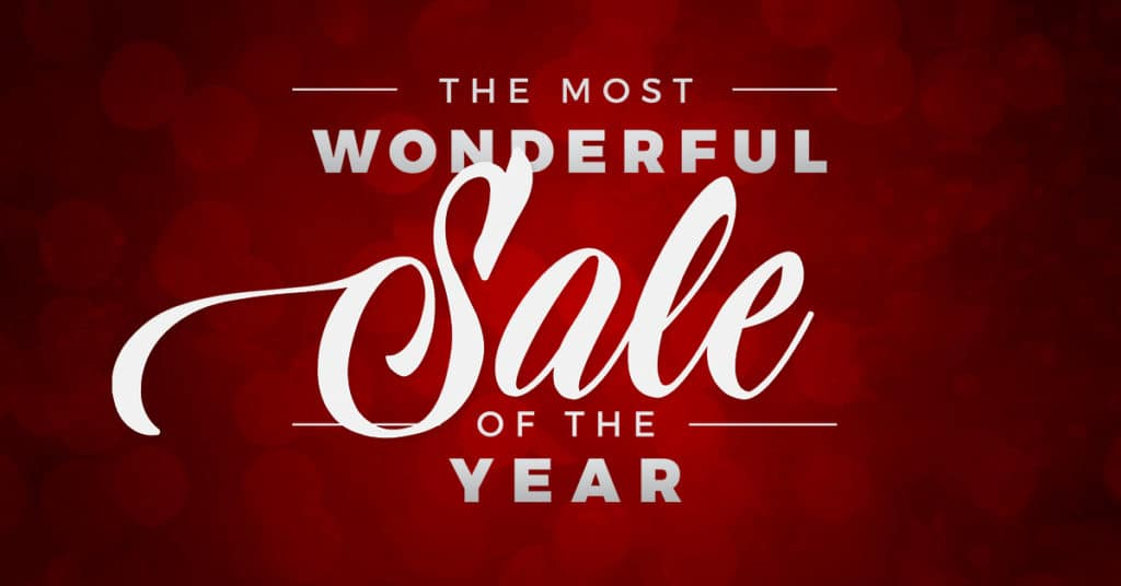 The Most Wonderful Sale of the Year