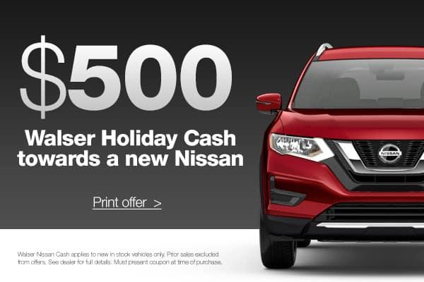 $500 Walser Holiday Cash