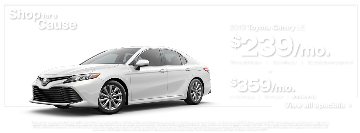 2019 Camry LE White