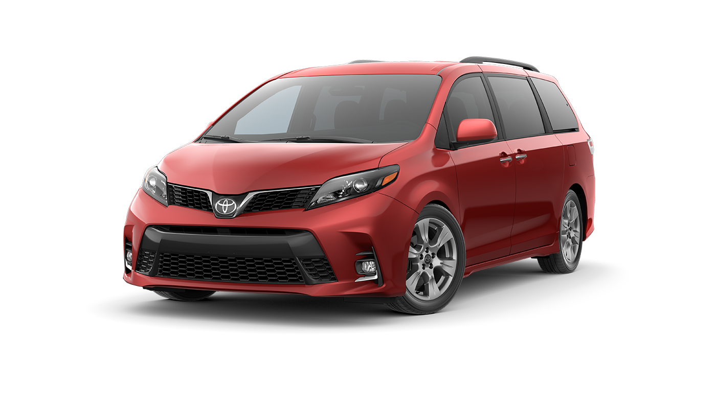 2019 Red Toyota Sienna