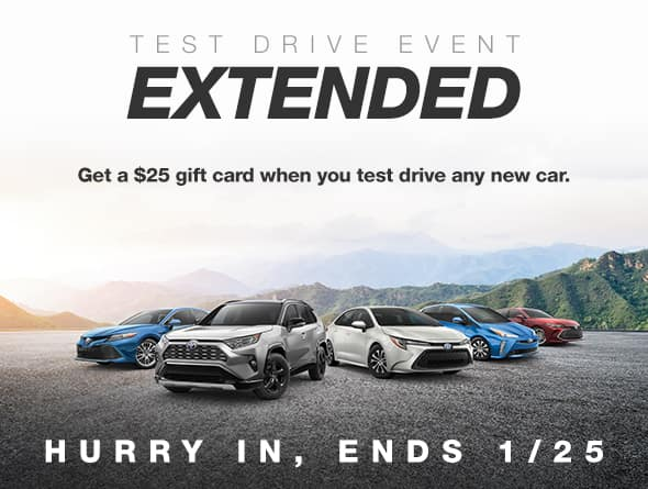 $25 Gift Card With Any New Car Test Drive