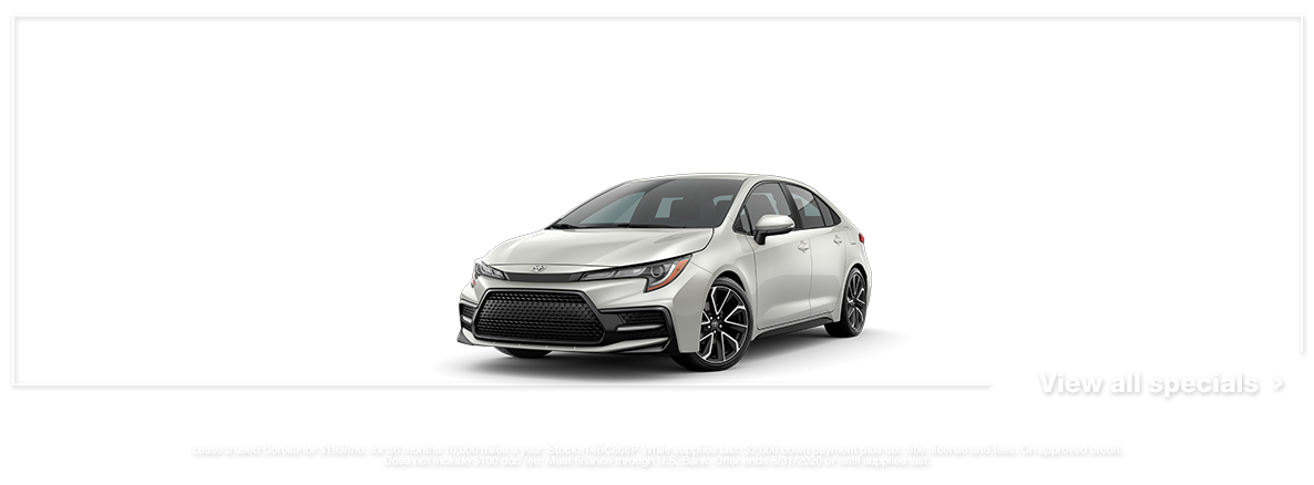 USED 2020 Corolla Lease Special