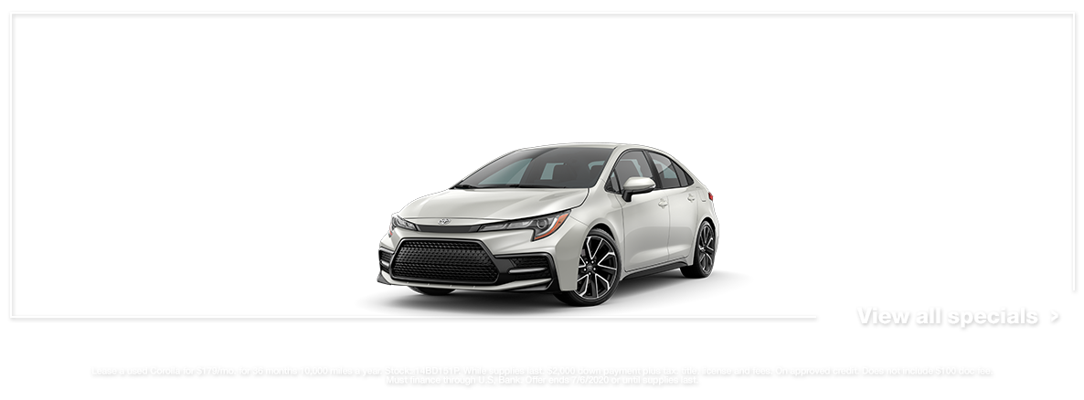 Walser Toyota Used 2020 Corolla Lease Specials