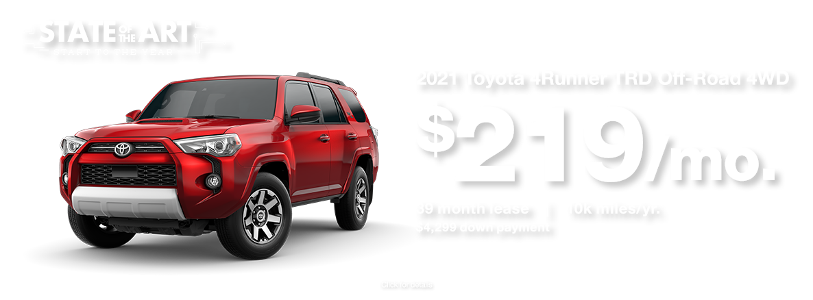2021 Toyota 4Runner January 2021 Lease Special at Walser Toyota near Chanhassen, MN