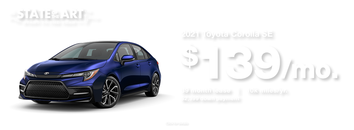 2021 Toyota Corolla January 2021 Lease Special at Walser Toyota near Minneapolis, MN