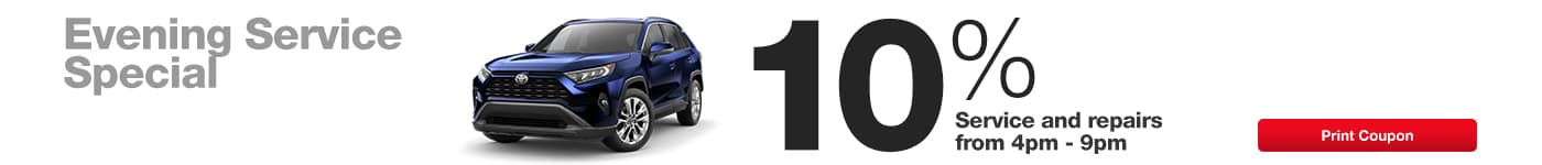 Save 10% on Evening Service at Walser Toyota in Bloomington, MN!