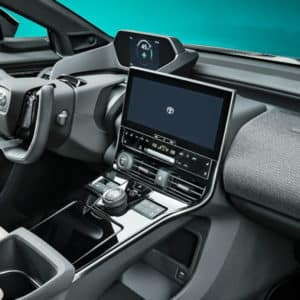 Another Dashboard View of the Toyota bZ4X Electric SUV | Walser Toyota in Minneapolis-St. Paul, Minnesota