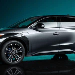Front Quarter View of the Toyota bZ4X Electric SUV | Walser Toyota in MN