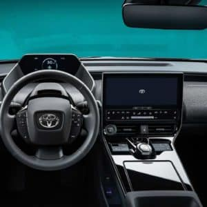 Dashboard View of the Toyota bZ4X Electric SUV | Walser Toyota in Edina, MN