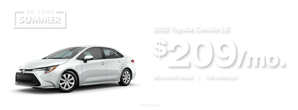 2022 Corolla Lease Special