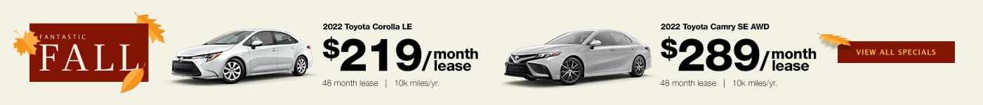 Camry / Corolla Fall Lease Specials