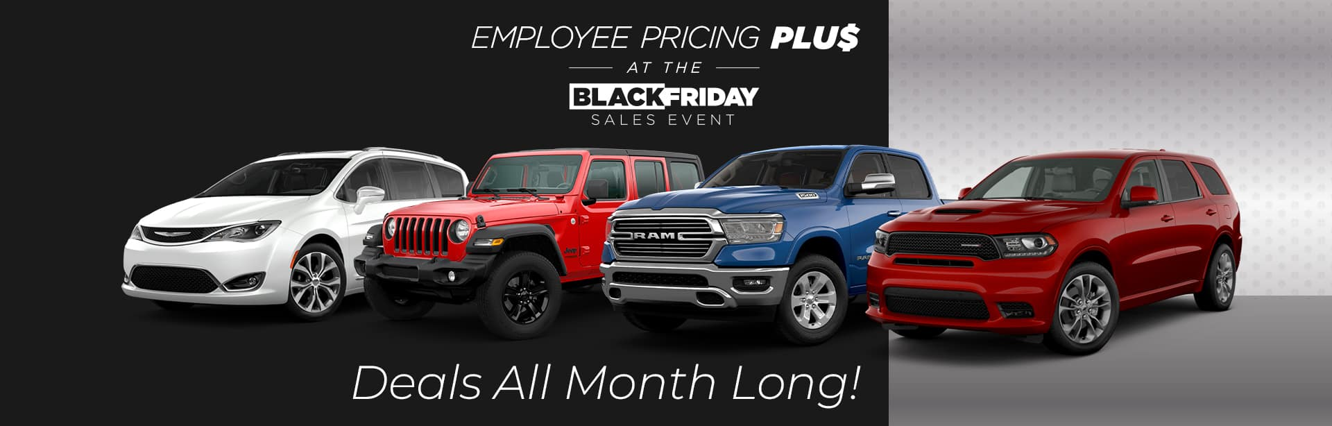 Black Friday all month long at York CDJR in Brazil, Indiana