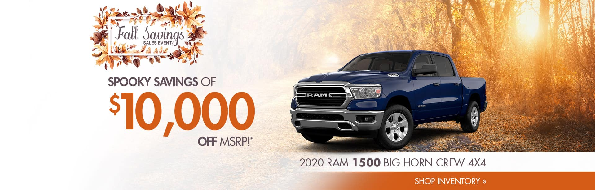 Up to $10,000 off a new Ram 1500 near Terre Haute, Indiana.